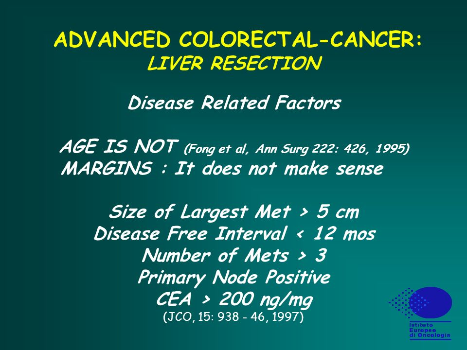 ADVANCED COLORECTAL-CANCER: LIVER RESECTION