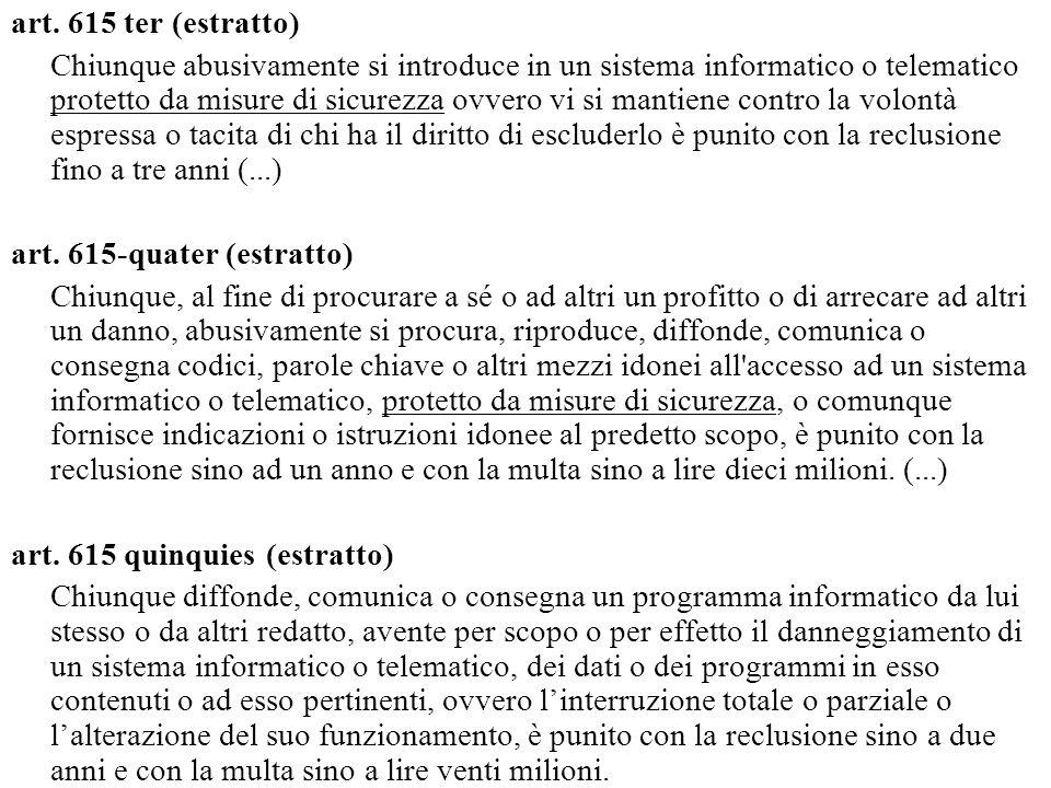 art. 615 ter (estratto)