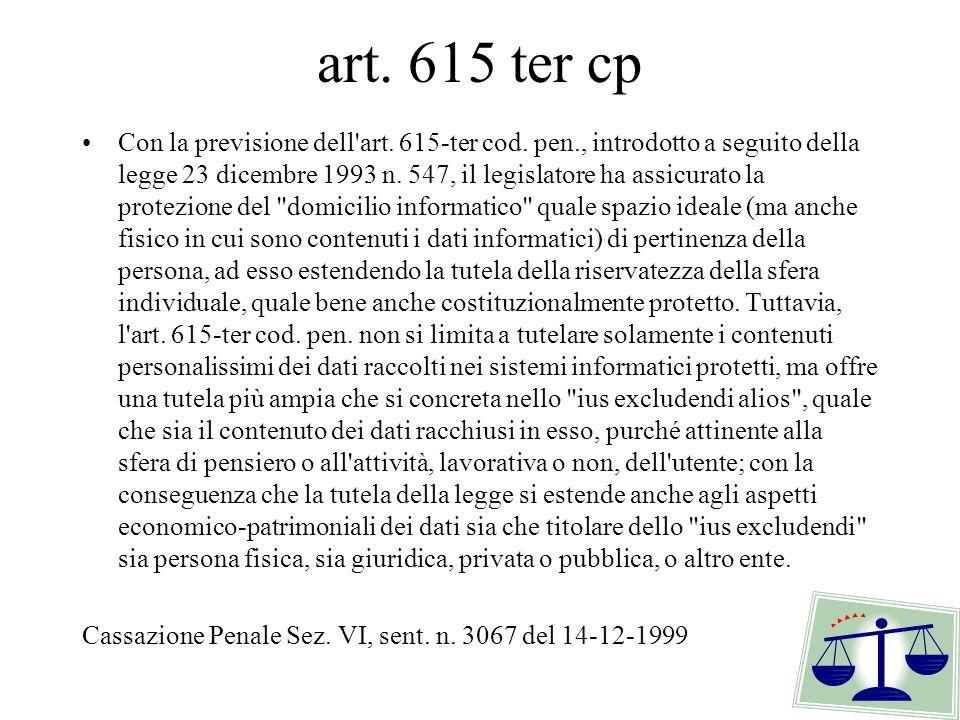 art. 615 ter cp