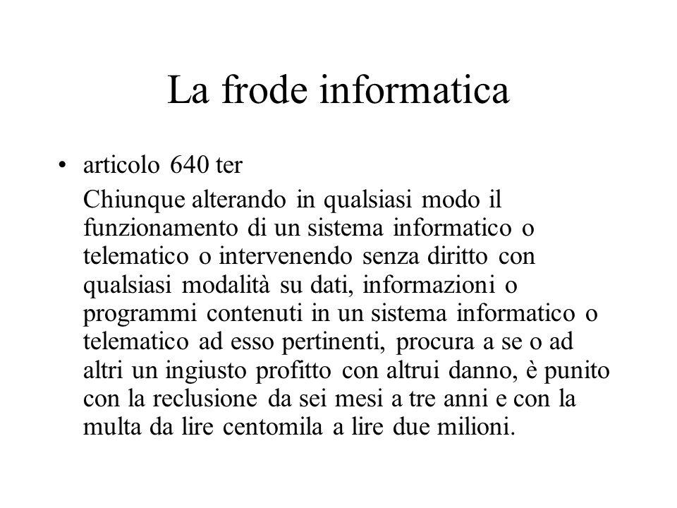 La frode informatica articolo 640 ter