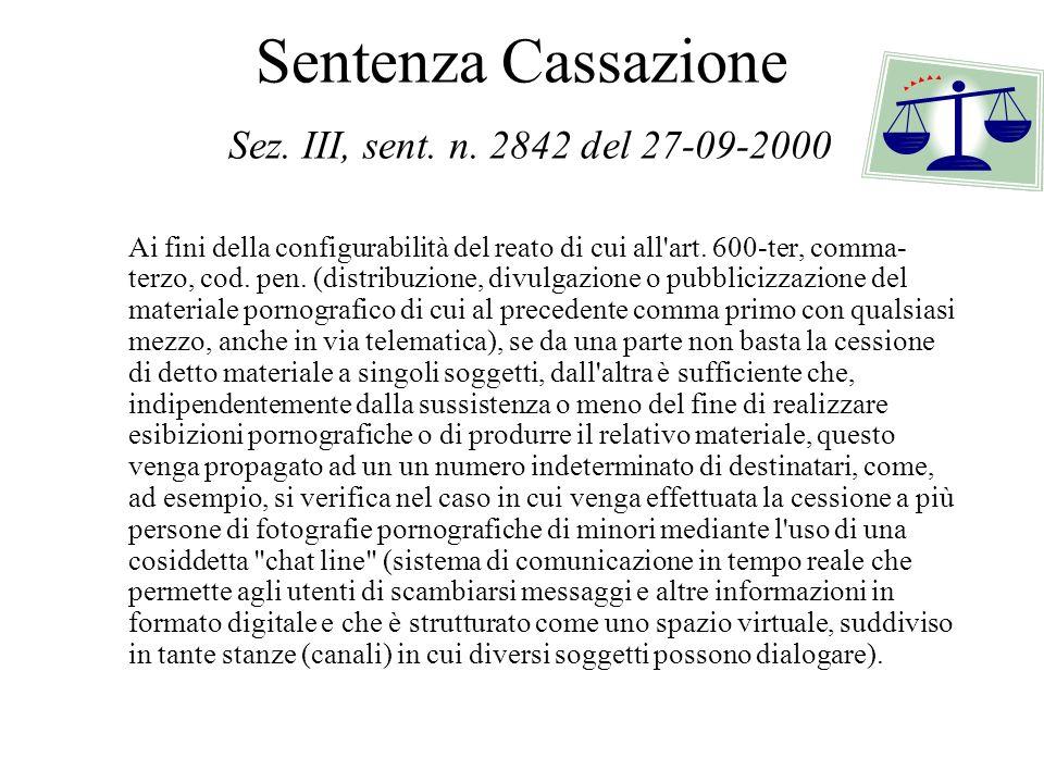 Sentenza Cassazione Sez. III, sent. n. 2842 del 27-09-2000