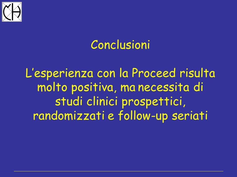 Conclusioni L'esperienza con la Proceed risulta molto positiva, ma necessita di studi clinici prospettici, randomizzati e follow-up seriati.