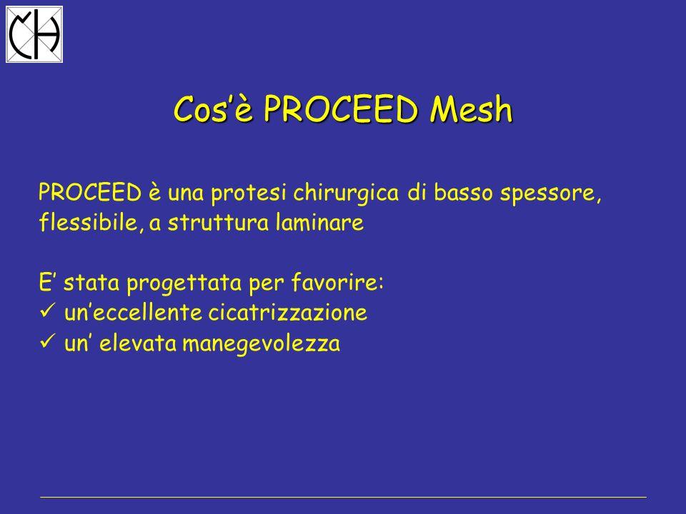 Cos'è PROCEED Mesh PROCEED è una protesi chirurgica di basso spessore,