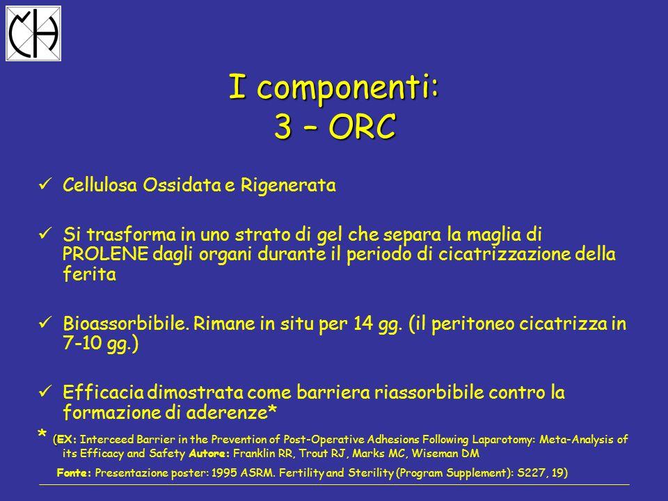 I componenti: 3 – ORC Cellulosa Ossidata e Rigenerata