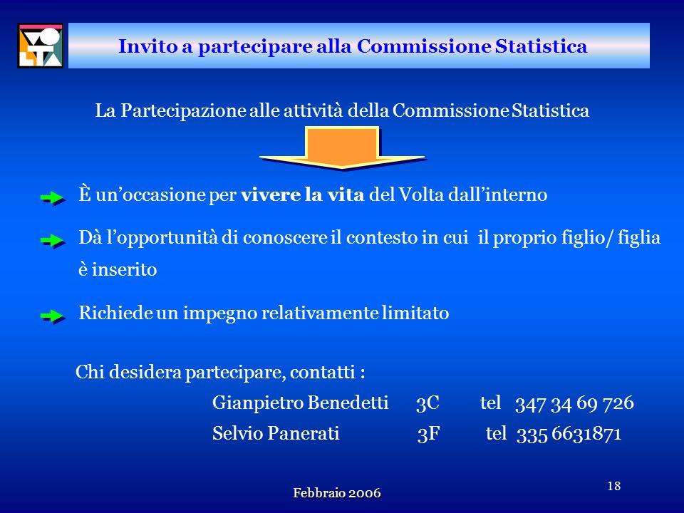 Invito a partecipare alla Commissione Statistica