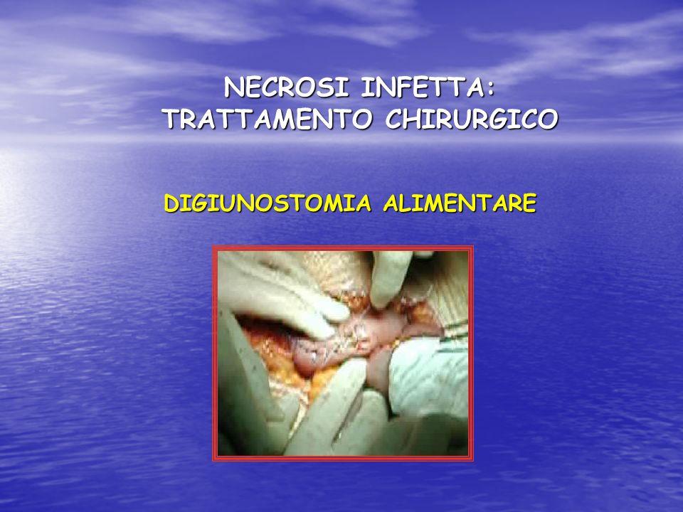 NECROSI INFETTA: TRATTAMENTO CHIRURGICO DIGIUNOSTOMIA ALIMENTARE