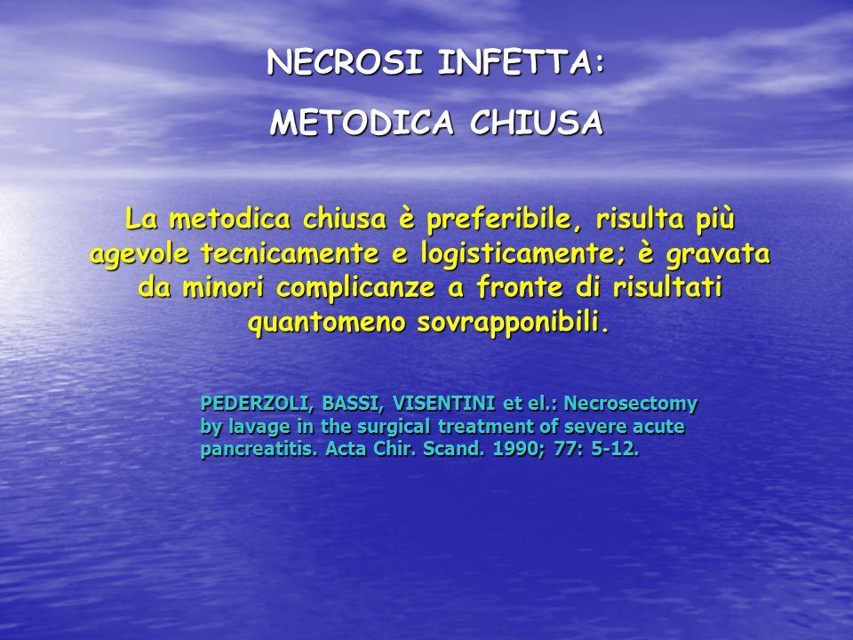 NECROSI INFETTA: METODICA CHIUSA