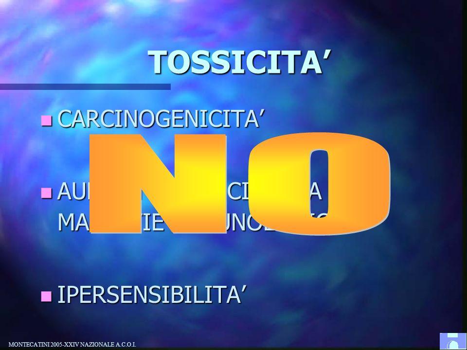 NO TOSSICITA' CARCINOGENICITA'