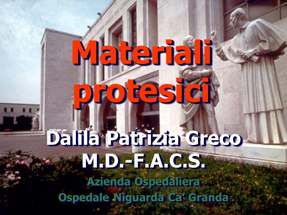 Dalila Patrizia Greco M.D.-F.A.C.S. Ospedale Niguarda Ca' Granda
