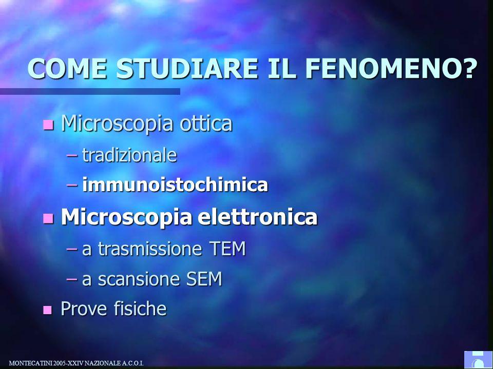 COME STUDIARE IL FENOMENO