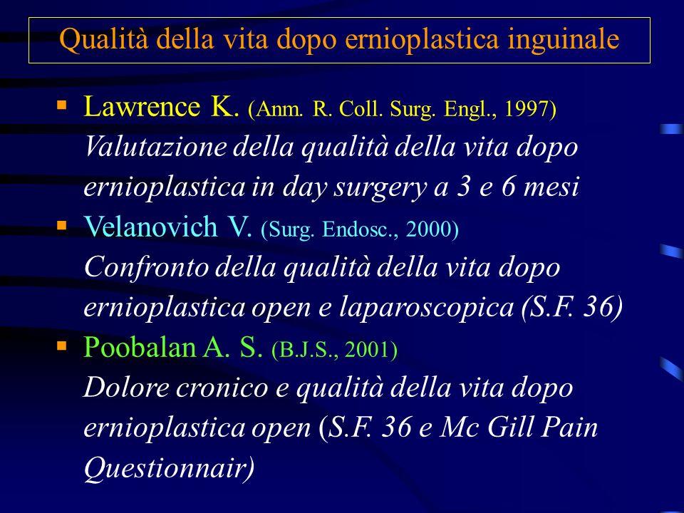 Qualità della vita dopo ernioplastica inguinale