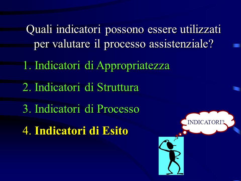 Indicatori di Appropriatezza Indicatori di Struttura