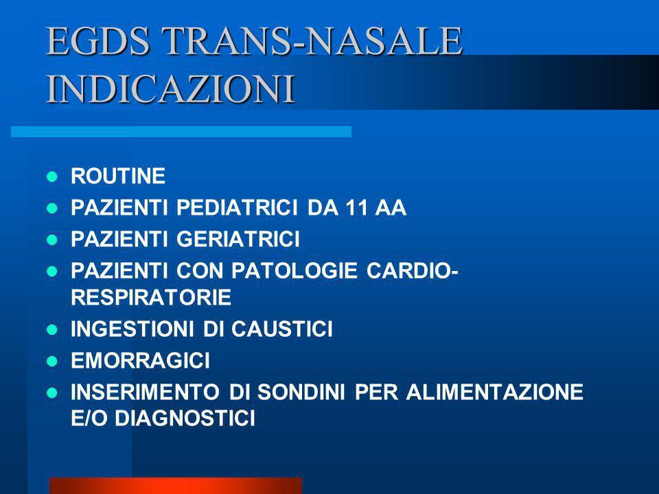 EGDS TRANS-NASALE INDICAZIONI