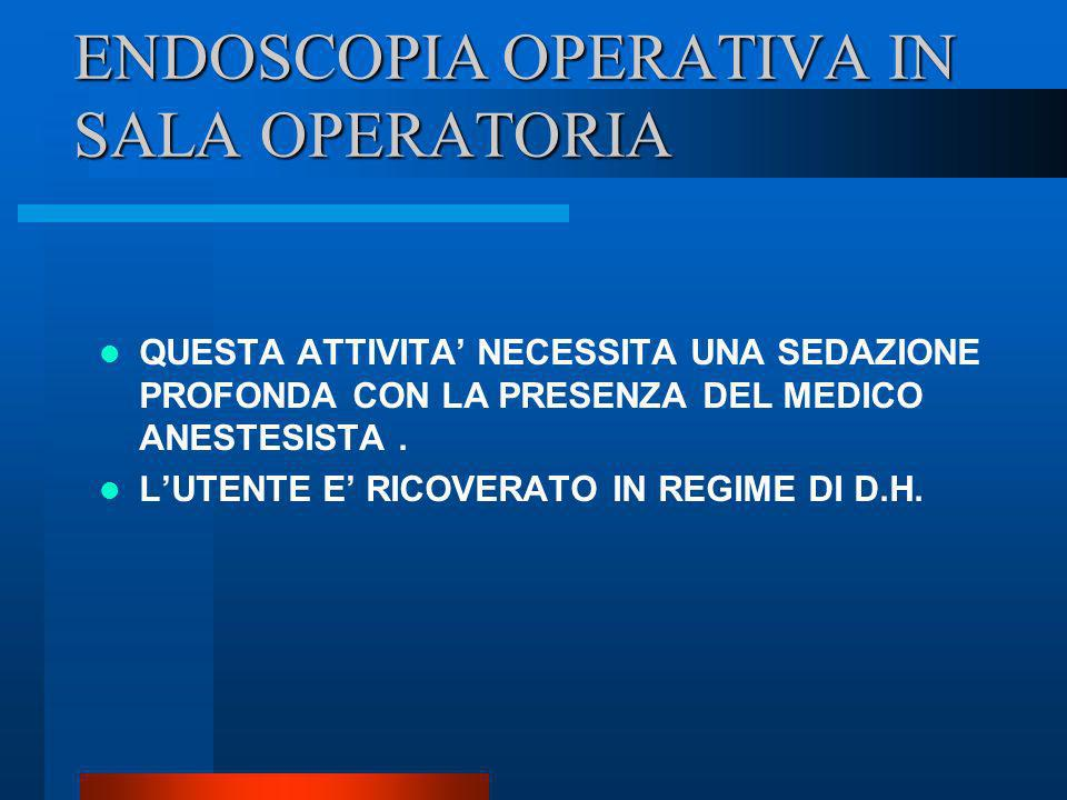 ENDOSCOPIA OPERATIVA IN SALA OPERATORIA