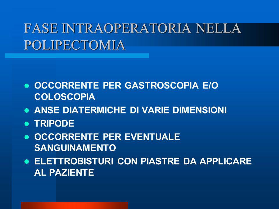 FASE INTRAOPERATORIA NELLA POLIPECTOMIA