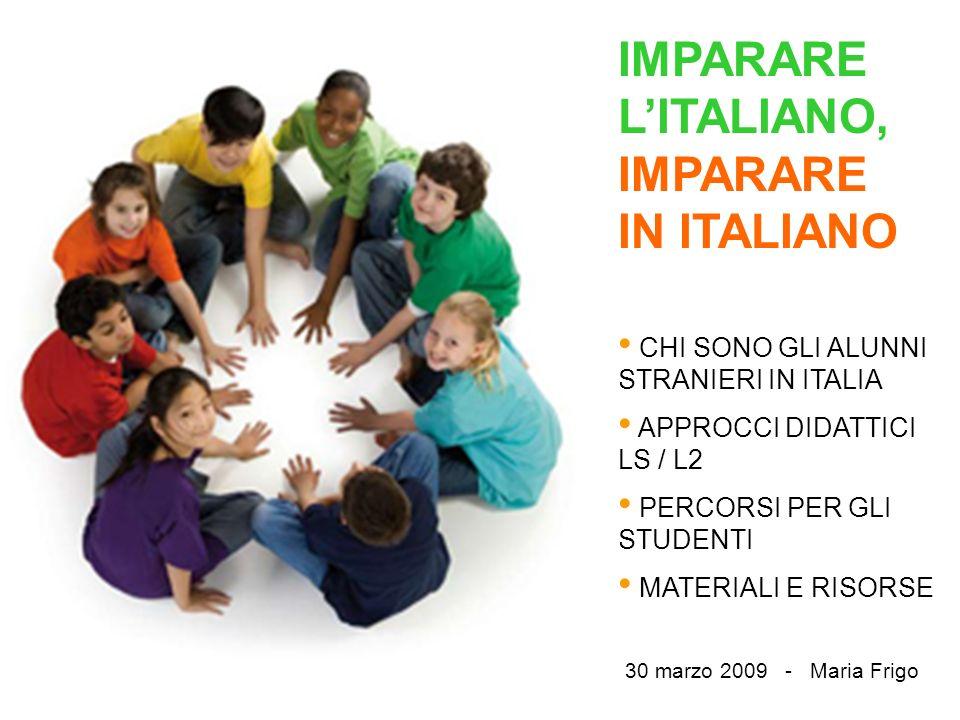 IMPARARE L'ITALIANO, IMPARARE