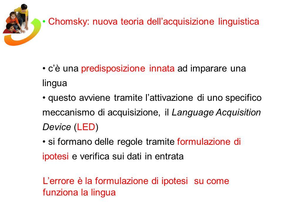 Chomsky: nuova teoria dell'acquisizione linguistica