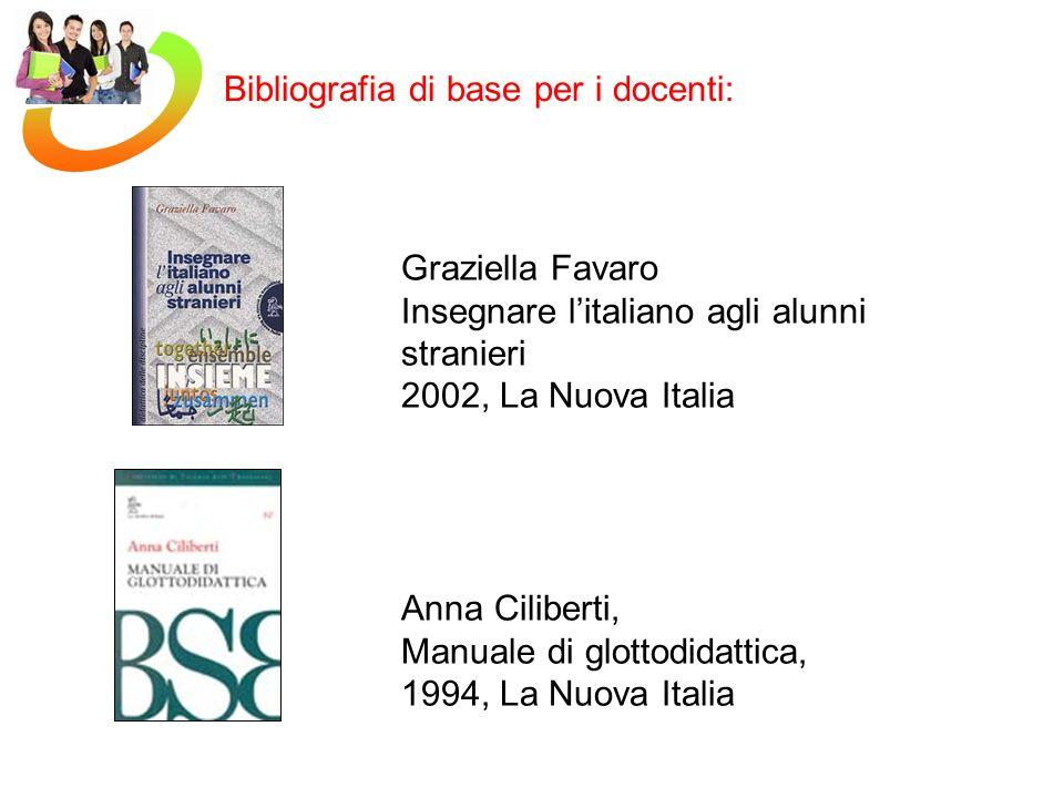 Bibliografia di base per i docenti:
