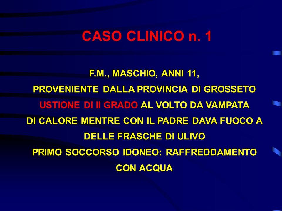 CASO CLINICO n. 1 F.M., MASCHIO, ANNI 11,