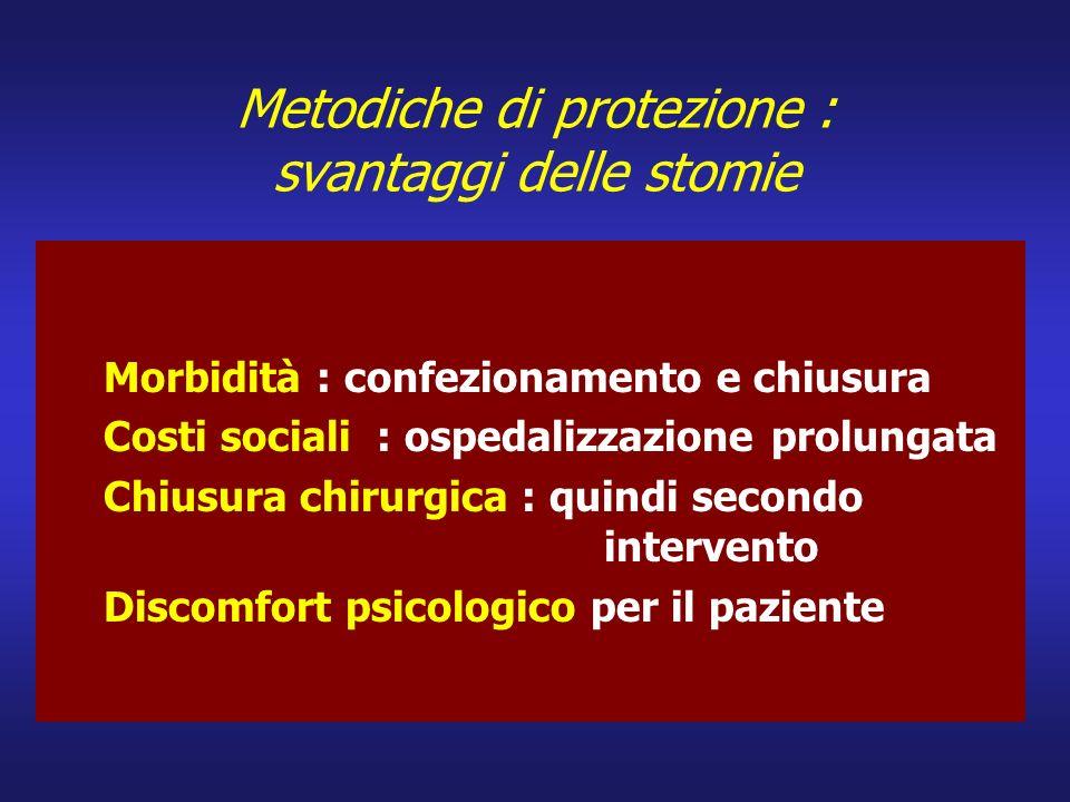Metodiche di protezione : svantaggi delle stomie