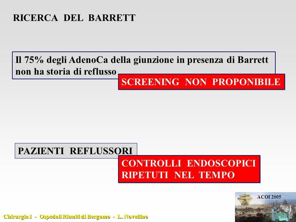 Il 75% degli AdenoCa della giunzione in presenza di Barrett