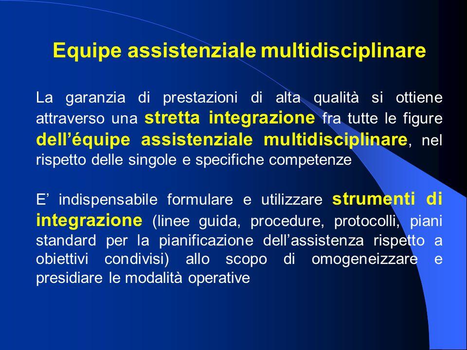 Equipe assistenziale multidisciplinare