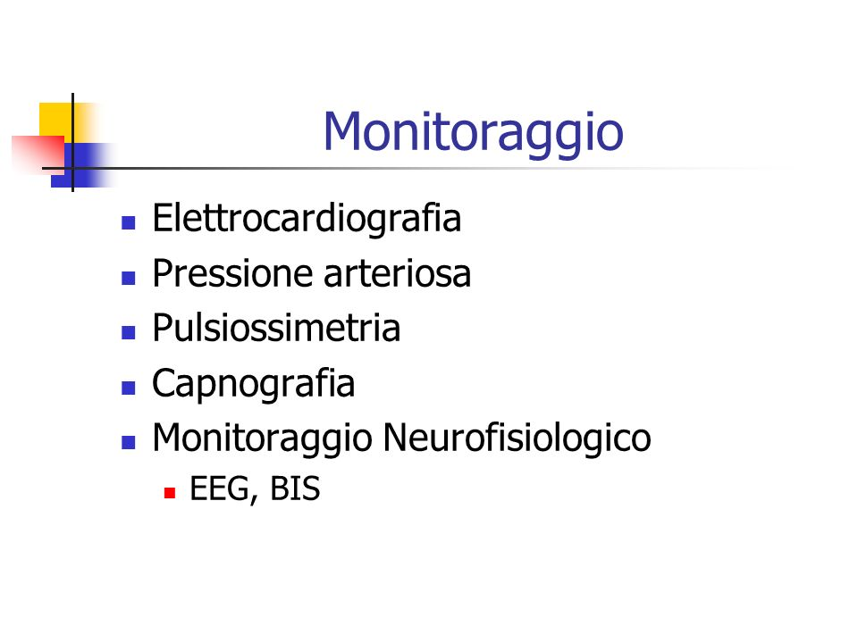 Monitoraggio Elettrocardiografia Pressione arteriosa Pulsiossimetria