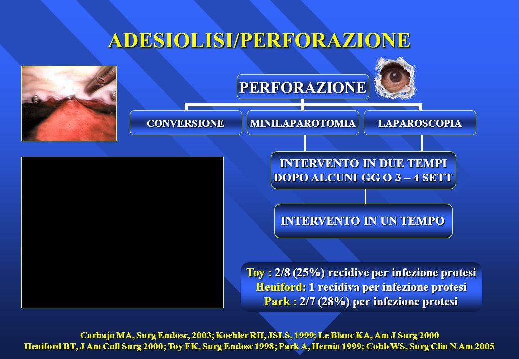 ADESIOLISI/PERFORAZIONE