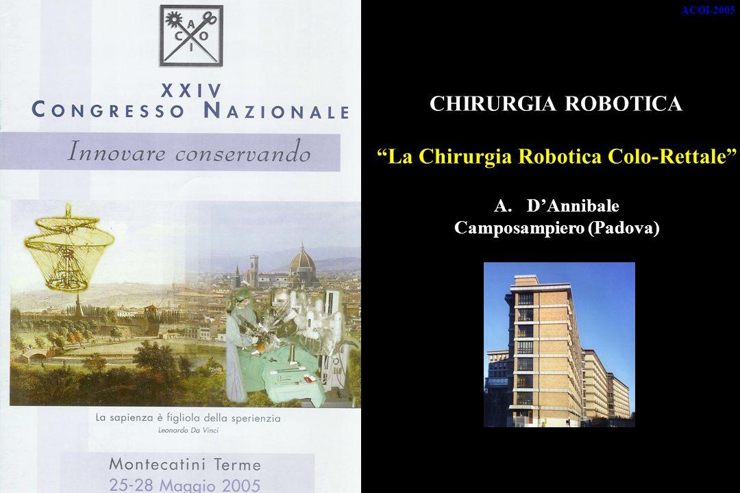 La Chirurgia Robotica Colo-Rettale Camposampiero (Padova)