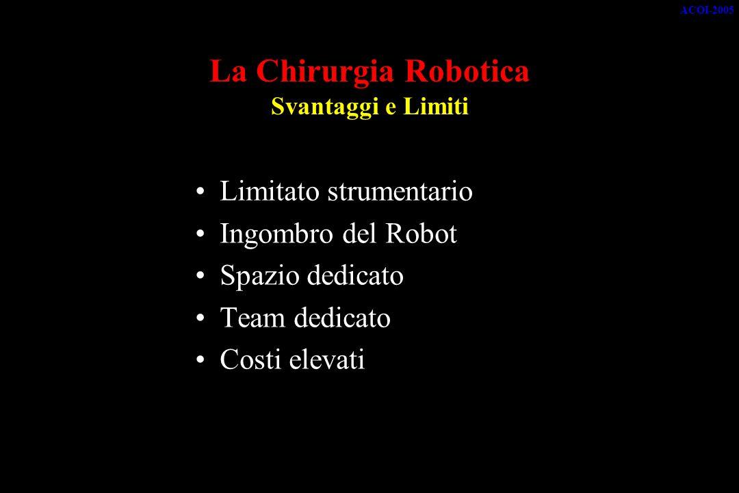 La Chirurgia Robotica Svantaggi e Limiti