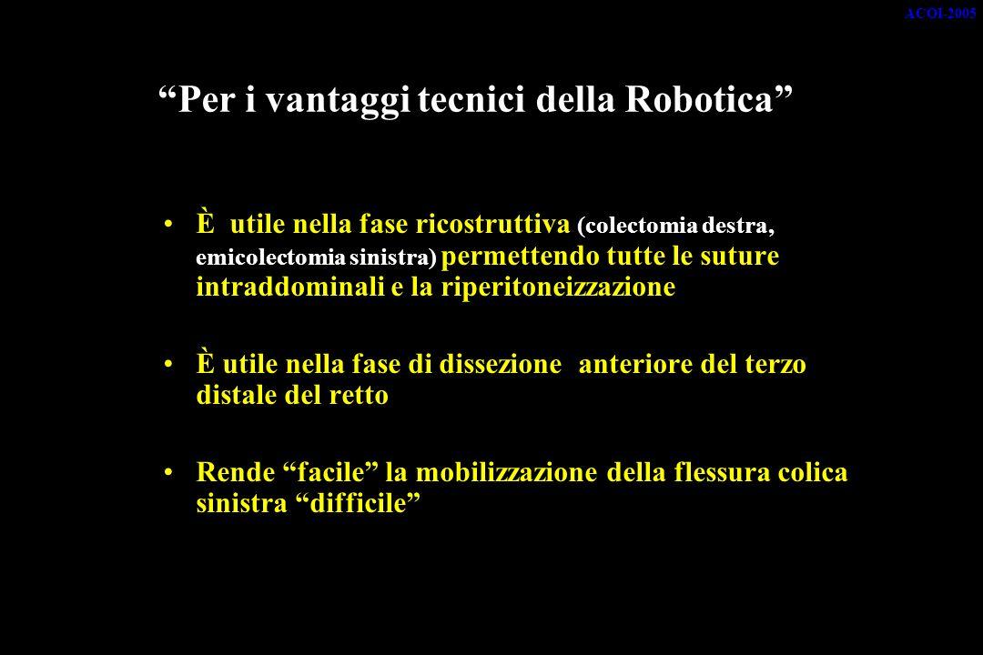Per i vantaggi tecnici della Robotica