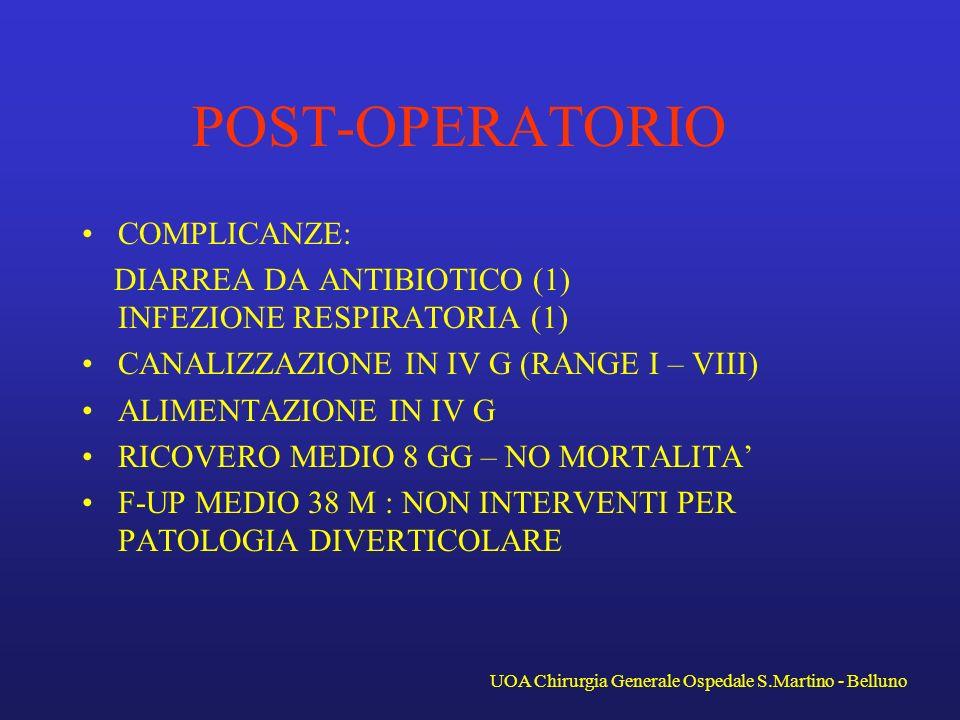UOA Chirurgia Generale Ospedale S.Martino - Belluno