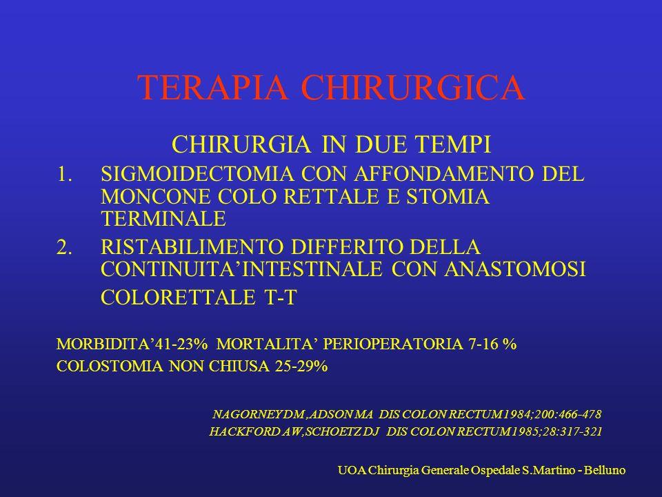TERAPIA CHIRURGICA CHIRURGIA IN DUE TEMPI