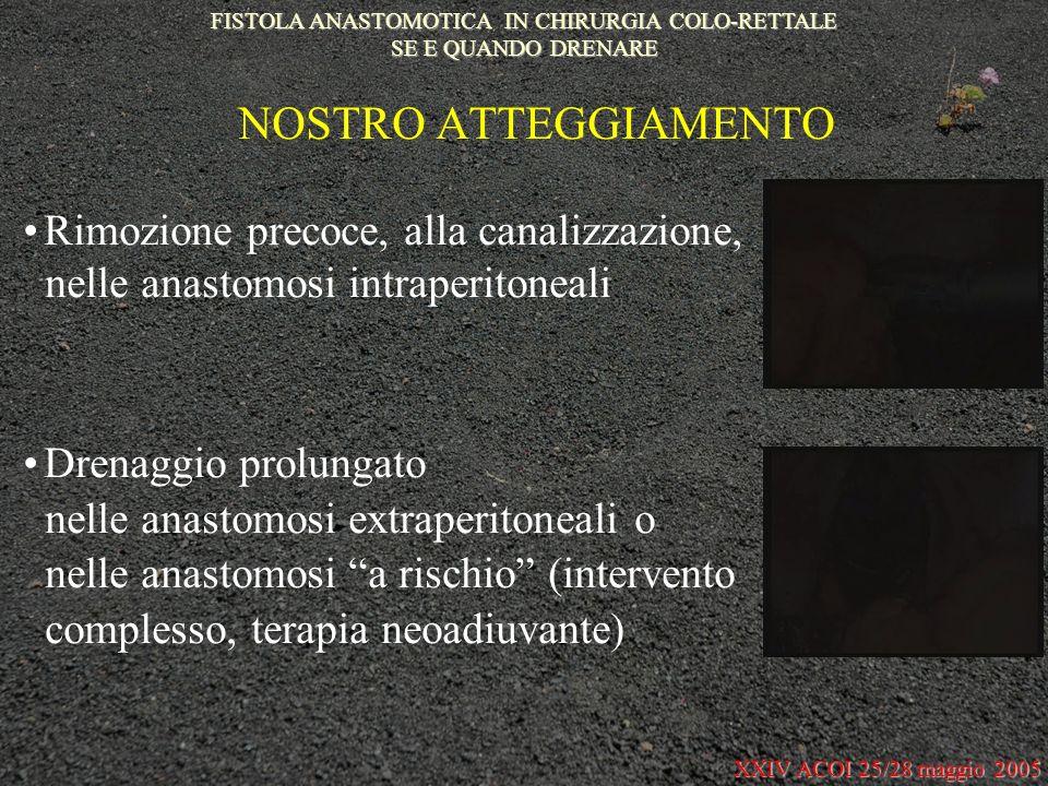 FISTOLA ANASTOMOTICA IN CHIRURGIA COLO-RETTALE SE E QUANDO DRENARE
