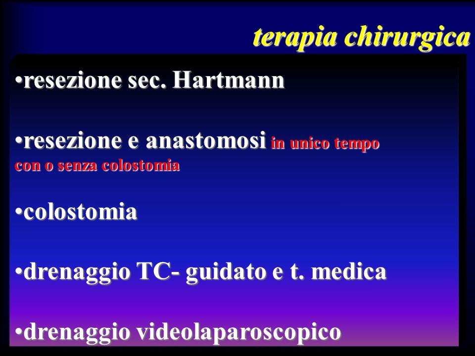 terapia chirurgica resezione sec. Hartmann