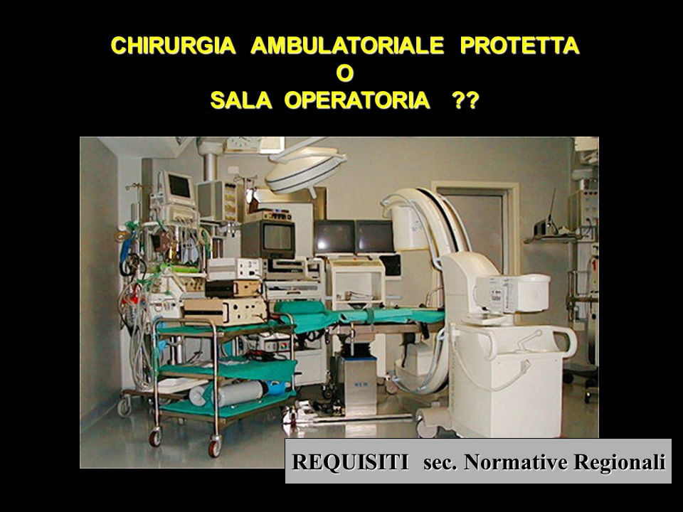 CHIRURGIA AMBULATORIALE PROTETTA REQUISITI sec. Normative Regionali