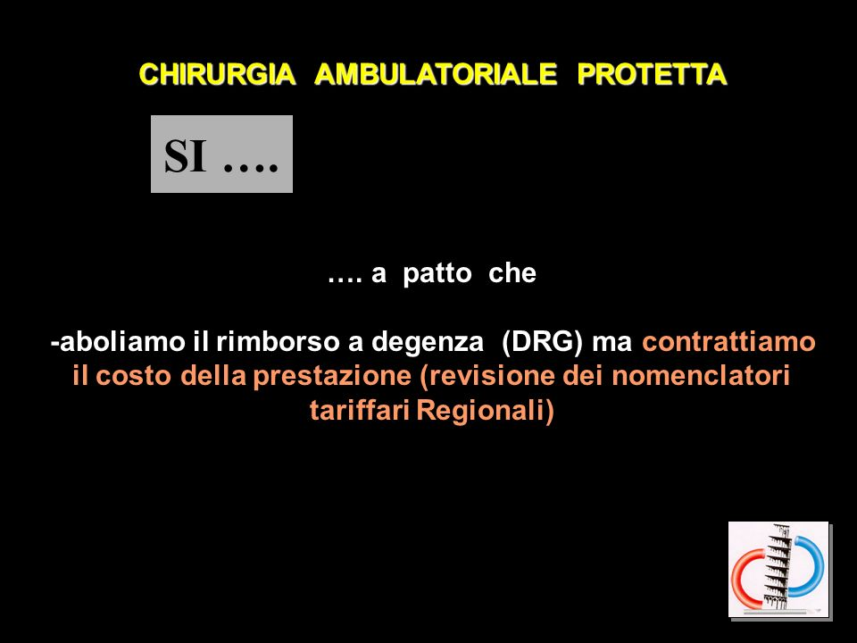 SI …. CHIRURGIA AMBULATORIALE PROTETTA …. a patto che
