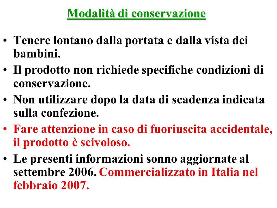 Modalità di conservazione