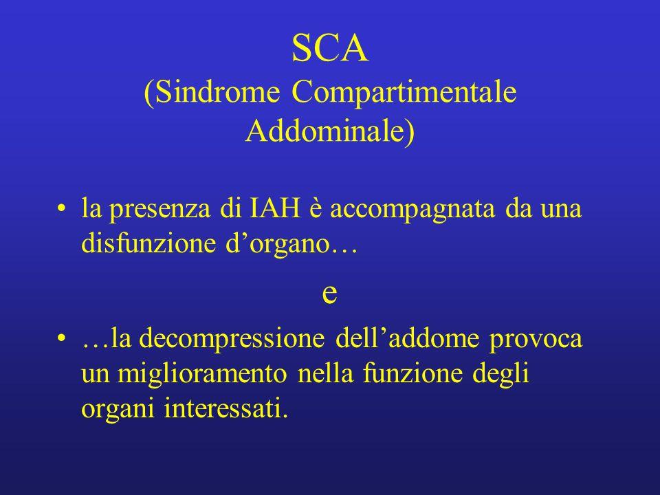 SCA (Sindrome Compartimentale Addominale)