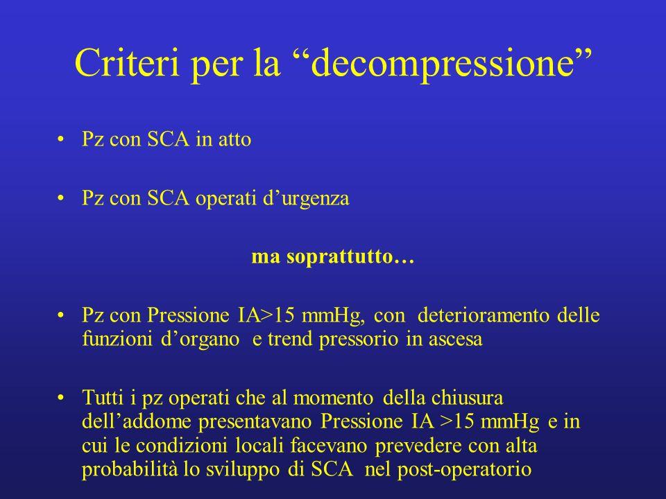 Criteri per la decompressione