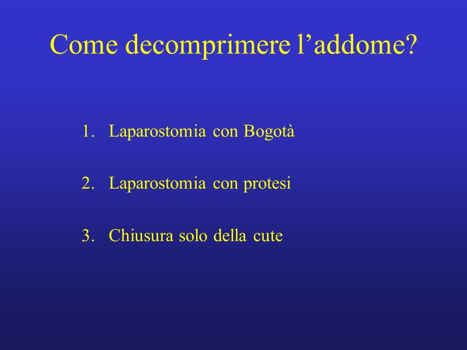 Come decomprimere l'addome
