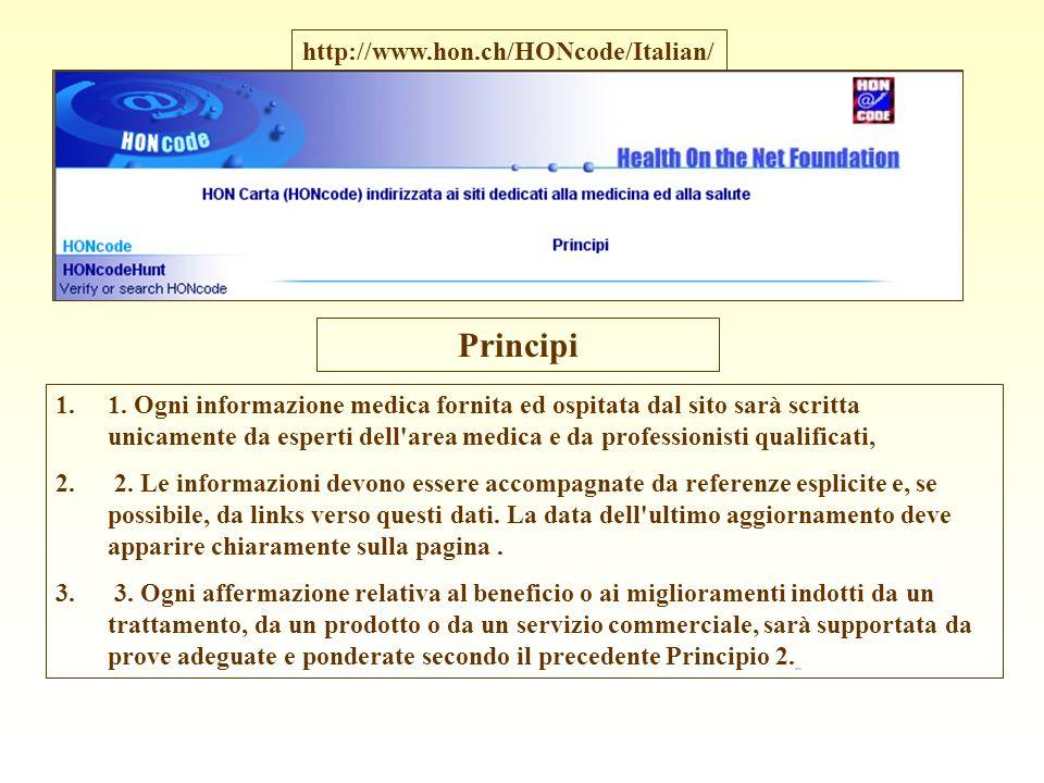 Principi http://www.hon.ch/HONcode/Italian/