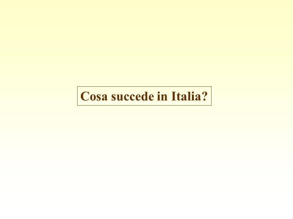 Cosa succede in Italia