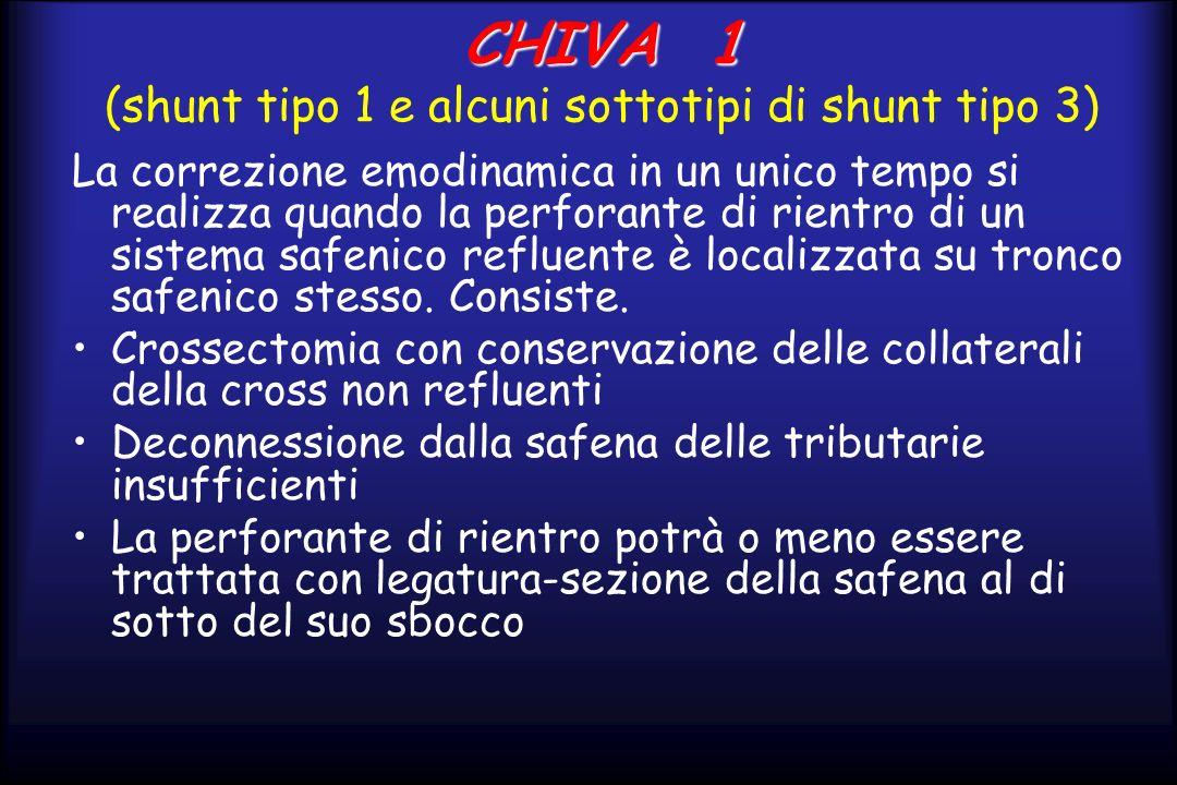CHIVA 1 (shunt tipo 1 e alcuni sottotipi di shunt tipo 3)