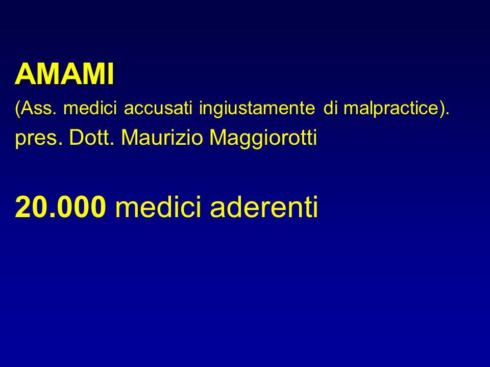 AMAMI 20.000 medici aderenti pres. Dott. Maurizio Maggiorotti