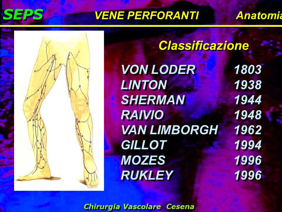 SEPS Classificazione VON LODER 1803 LINTON 1938 SHERMAN 1944