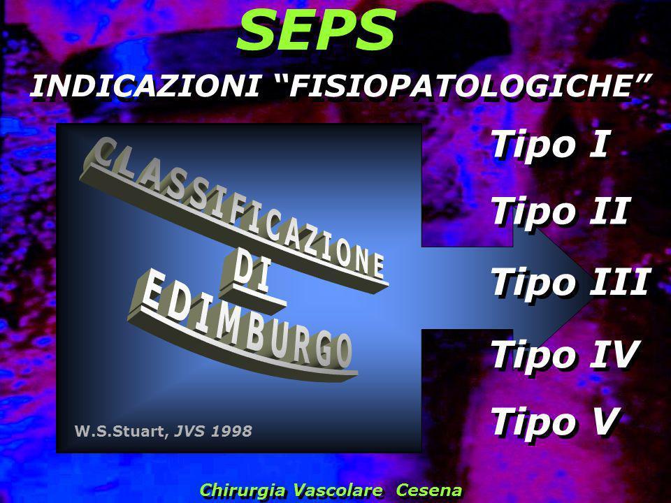 SEPS Tipo I Tipo II Tipo III Tipo IV Tipo V CLASSIFICAZIONE DI