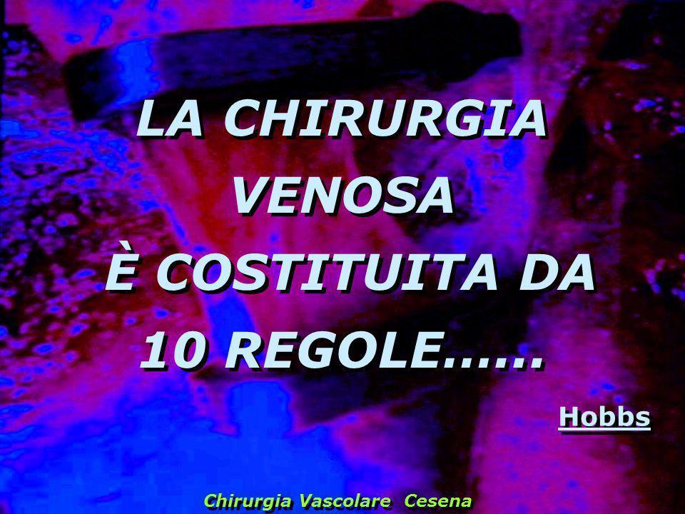 LA CHIRURGIA VENOSA È COSTITUITA DA 10 REGOLE…...