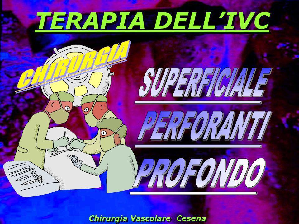 TERAPIA DELL'IVC CHIRURGIA SUPERFICIALE PERFORANTI PROFONDO