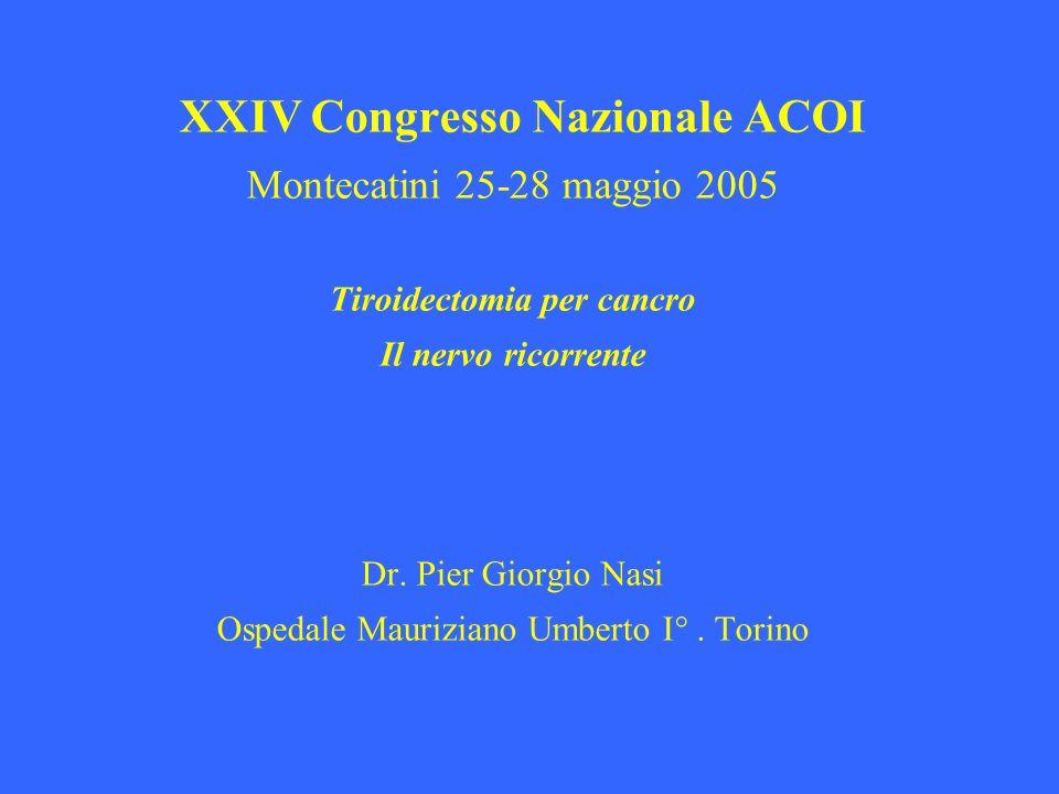 Tiroidectomia per cancro